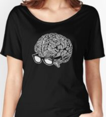 Brain with Glasses Women's Relaxed Fit T-Shirt