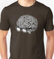Gehirn mit Brille Slim Fit T-Shirt