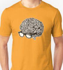 Brain with Glasses Unisex T-Shirt
