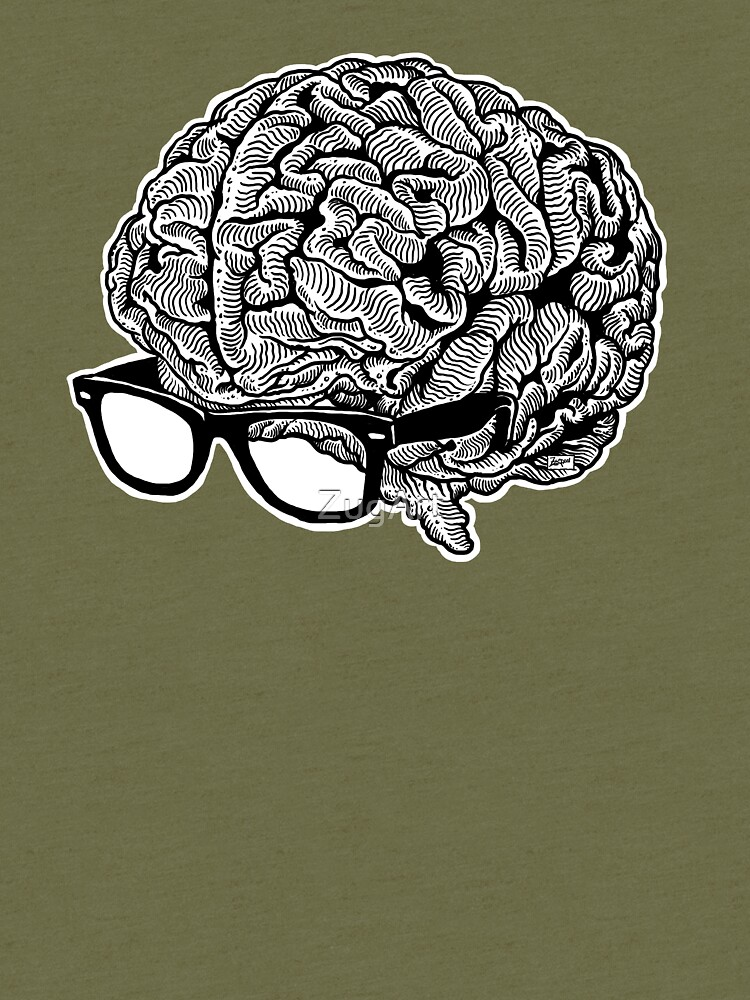 Brain with Glasses by ZugArt