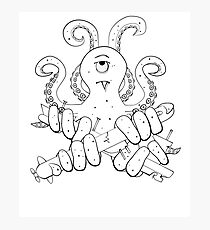 The Cute Kraken for Kids Photographic Print