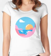 Our Sunset Women's Fitted Scoop T-Shirt