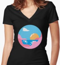 Our Sunset Women's Fitted V-Neck T-Shirt