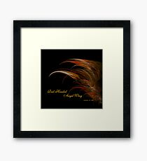 Red-Headed Angel Wing Framed Print
