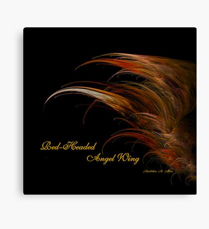 Red-Headed Angel Wing Canvas Print