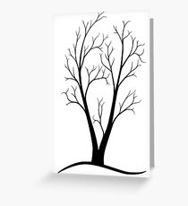 A Two-trunked Tree Greeting Card