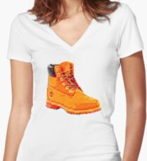Deep Fried Timb Women's Fitted V-Neck T-Shirt