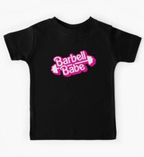 Barbell Babe Doll Logo Kids Clothes