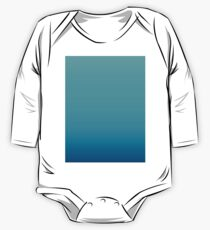 summer beach chic abstract teal blue turquoise ombre  One Piece - Long Sleeve