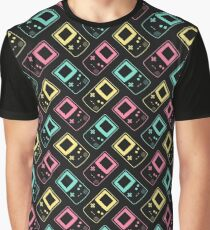 Minimal Gameboy Colour Outlines (black) Graphic T-Shirt
