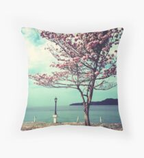 Blooms by the Sea Throw Pillow