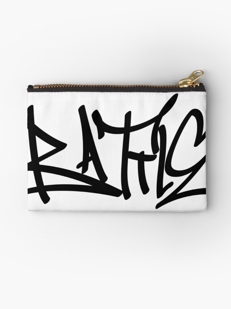 'graffiti letters creator drawings alphabet' Zipper Pouch by ariyantcreative