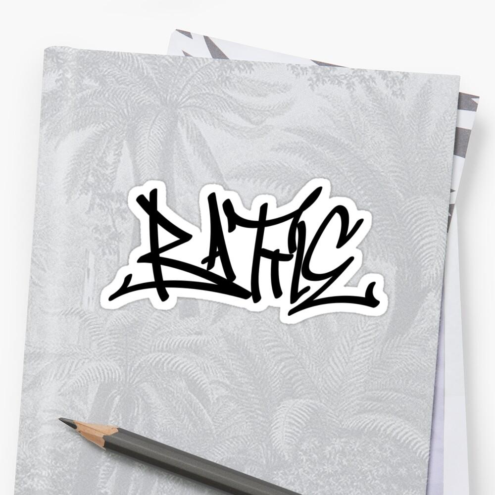 Graffiti letters creator drawings alphabet sticker