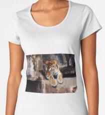 tiger, cat, sebirian tiger Women's Premium T-Shirt