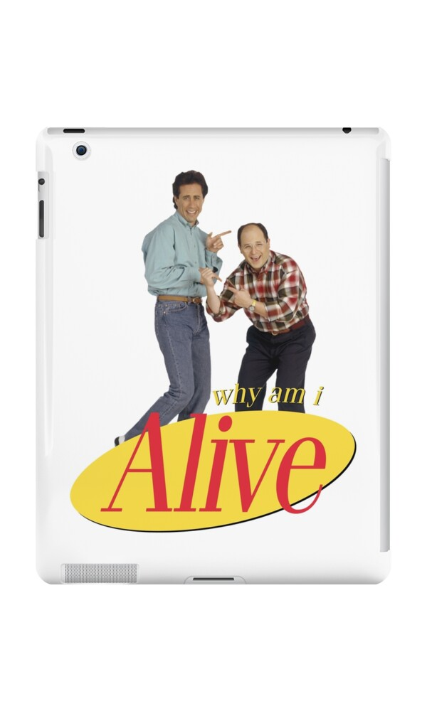 seinfeld christmas cards seinfeld why am i alive ipad cases skins by 098v redbubble