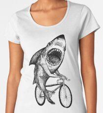 Camiseta premium para mujer Bicicleta Shark Ride