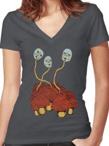 Mushroom Coalition Women's Fitted V-Neck T-Shirt
