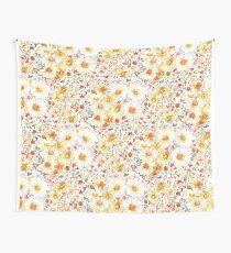 Vintage Gefühl Gänseblümchen Wildblumen Muster Wandbehang