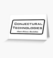 Conjectural Technologies (black) Greeting Card