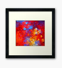 Electric Red Clouds Framed Print