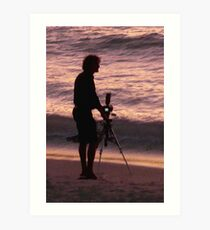The Intrepid Photographer Art Print