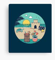Videogame beach Canvas Print