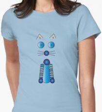 Blue Cat Illustration T-Shirt