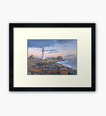 Morning Light on Scituate Harbor - Scituate, MA Framed Print