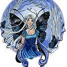 Blue Diadem Gothic Fairy by meredithdillman