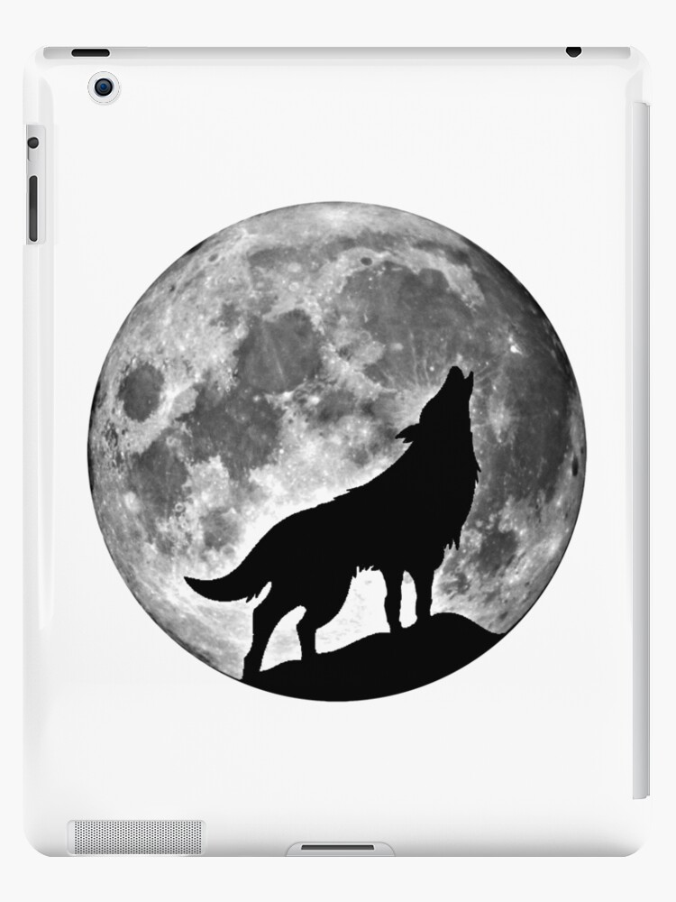 Wolf on the moon by toshibung