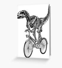 Skeleton Fossil Love Bike  Greeting Card