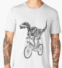 Skeleton Fossil Love Bike  Men's Premium T-Shirt