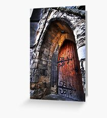 warm welcome in the house of god Greeting Card