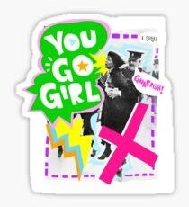 Pankhurst says GO GIRL Sticker