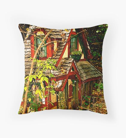 The Faerie Dwelling Throw Pillow
