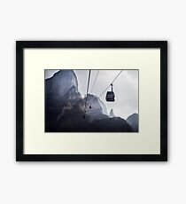 Tianmen Mountain Cableway China art photo print Framed Print