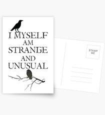I Myself Am Strange & Unusual Postcards