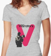 The Vibrators Women's Fitted V-Neck T-Shirt