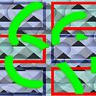 «Collage con círculos y triángulos» de Ellen Turner