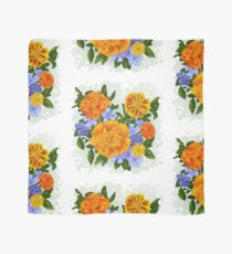 Marigolds and Periwinkle Scarf