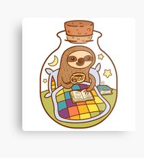 Sloth in a Bottle Metal Print