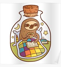 Sloth in a Bottle Poster