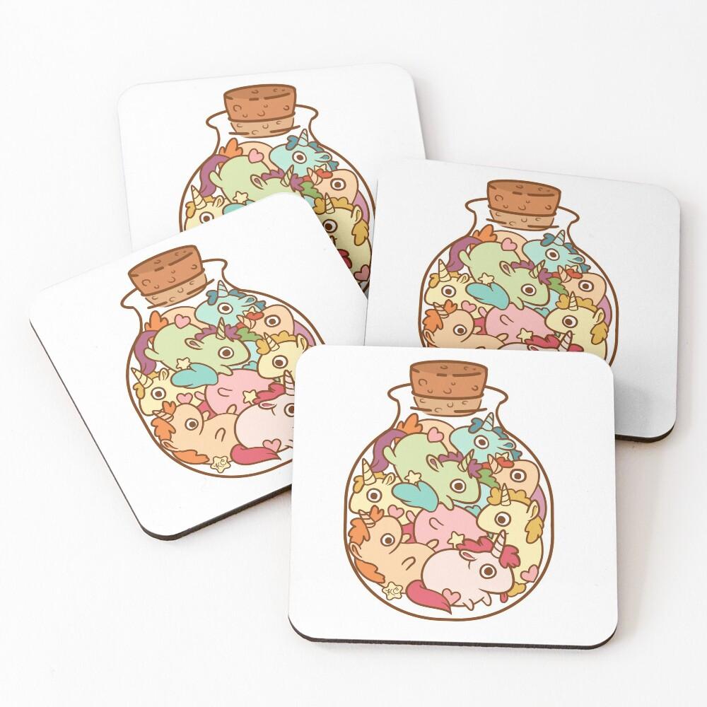 Bottle of Unicorns Coasters (Set of 4)