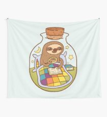 Sloth in a Bottle Wall Tapestry