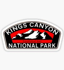 KINGS CANYON NATIONAL PARK CALIFORNIA MOUNTAINS HIKE HIKING CAMP CAMPING NATURE RED Sticker