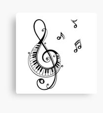 Music keyboard stylized illustration Canvas Print