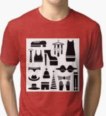 silhouettes of clothes Tri-blend T-Shirt