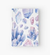 Watercolor pastel colored crystals Hardcover Journal