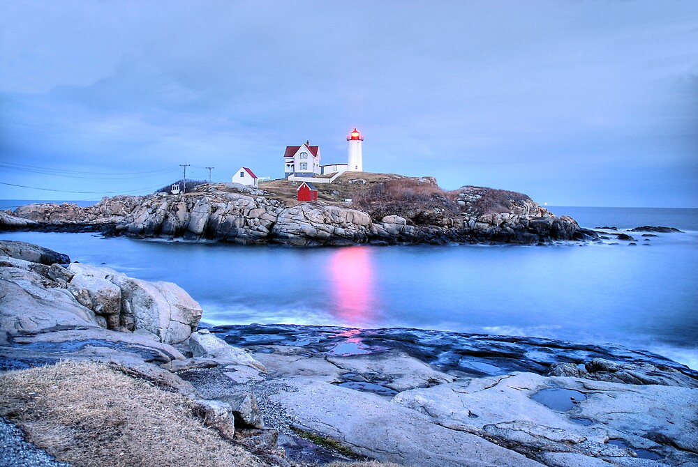 Nubble Lighthouse - York, ME by Howard Simpson
