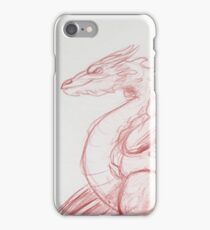 Smaug Red Pencil Sketch iPhone Case/Skin